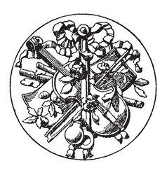 Big medallion symbol is a symbol a violin vector