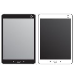 Black and white tablet vector image