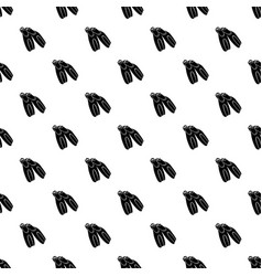 black flippers for diving icon simple style vector image