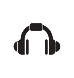 black icon on white background music vector image