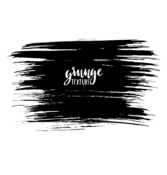Black ink brush strokes isolated on white vector