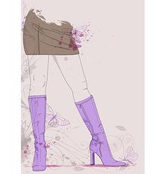 boots butterflies vector image