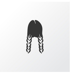 Braid icon symbol premium quality isolated plait vector
