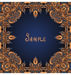 Brown ornamental frame A lot of copyspace in the vector image vector image