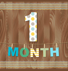 Card 1 month vector