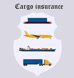 Cargo insurance vector image