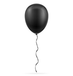 celebratory black balloon pumped helium with vector image