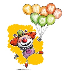 Clown with Balloons Saying Thank You vector image