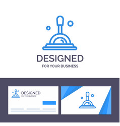 creative business card and logo template search vector image