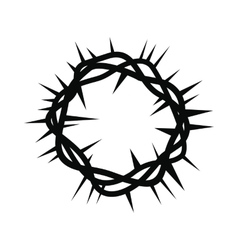 Crown of thorns black simple icon vector