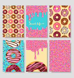 donut food card vector image