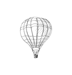 Doodle air balloon vector