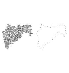 Dot contour map of maharashtra state vector