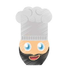 Drawing chef emoticon image vector