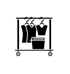 dresser black icon sign on isolated vector image