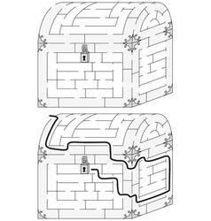 Easy chest maze vector