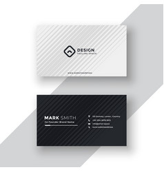 Elegant black and white business card design vector