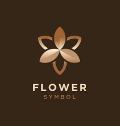 Elegant star flower for cosmetic logo design vector