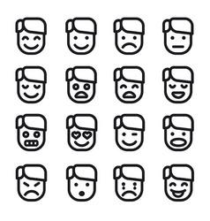 emoji set icons vector image