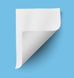 Empty paper sheet isolated vector image vector image