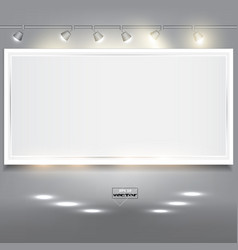 Empty white banner for product advertising with vector