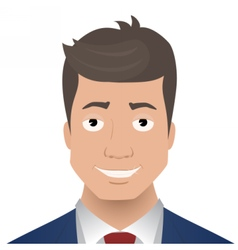Face smiling businessman vector
