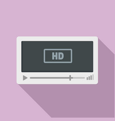 film hd playing icon flat style vector image