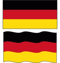 Flat and waving Germany Flag vector