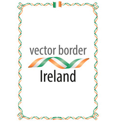 Frame and border of ribbon with the colors ireland vector