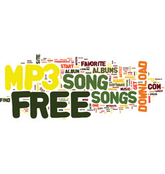 Free mp song text background word cloud concept vector