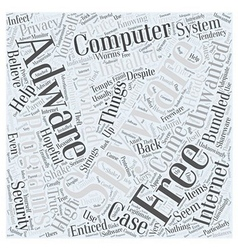 Free spyware and adware programs Word Cloud vector