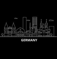 germany silhouette skyline germany city vector image