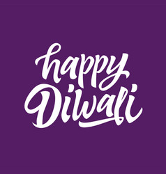 Happy diwali - hand drawn brush pen vector
