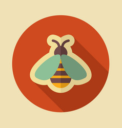 Honey bee icon vector