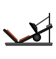 Incline leg press vector