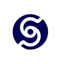 Letter s initial logo vector