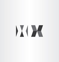 logotype x letter x sign black logo vector image