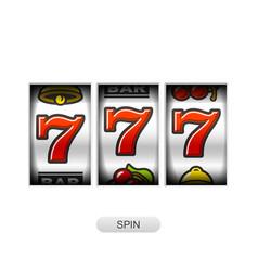 lucky sevens jackpot slot machine vector image vector image
