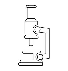 microscope icon outline style vector image