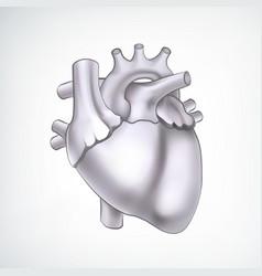 Monochrome medical organ cardio design concept vector