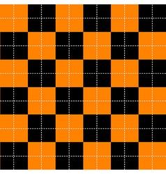 Orange black chess board background vector