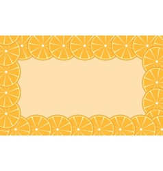 Orange lime frame vector image
