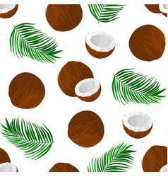 Pattern with coconut vector