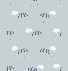 pattern with umbrella vector image