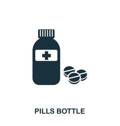 pills bottle icon line style icon design ui vector image