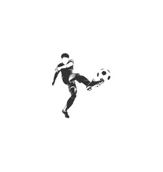 Player football silhouette vector