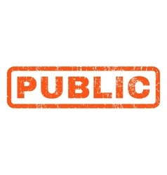 Public Rubber Stamp vector image
