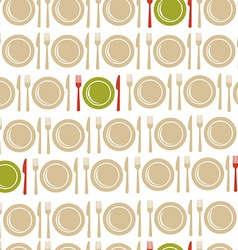 Restaurant seamless pattern background vector image