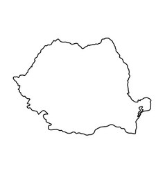 Romania map of black contour curves of vector