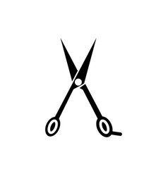 scissors icon black sign on vector image